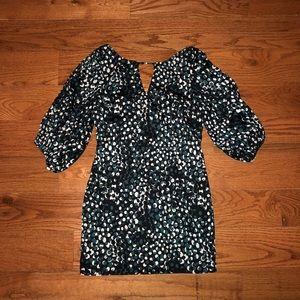 Beautiful Mini Dress With Dot Design Size Small